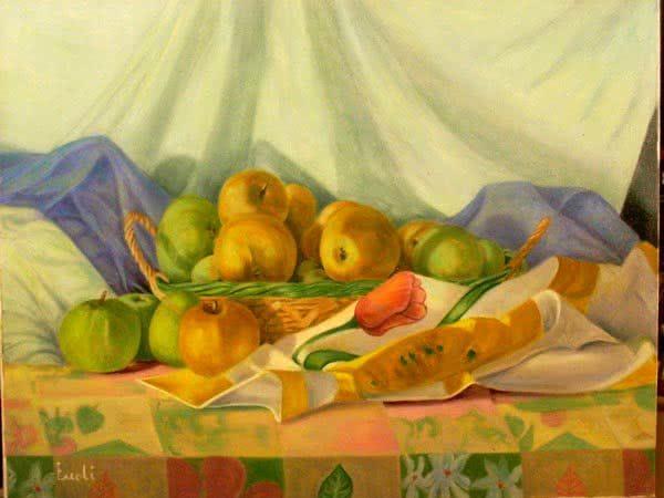 """Apple basket No.3"" Original Painting"