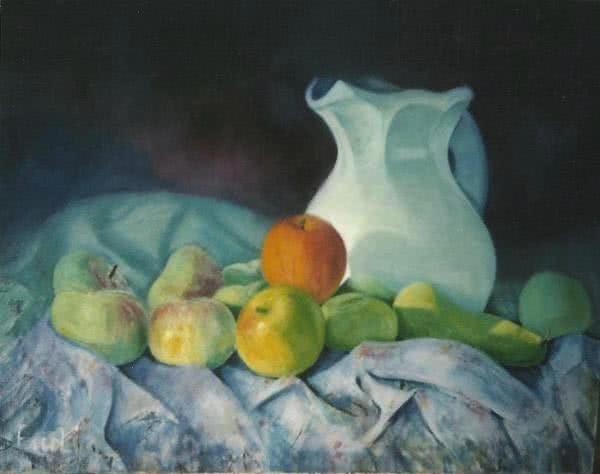 """Apple basket No.4"" Original Painting"