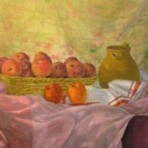 """Apples Formation"" Original Painting"