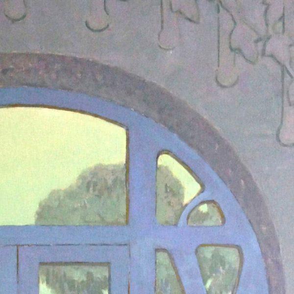 """Balcony"" Original Oil Painting on Canvas"