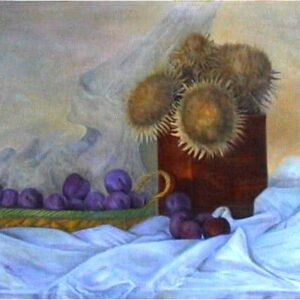 """Basket of Plums"" Original Painting"