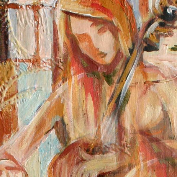 """Cellist"" Original Painting"