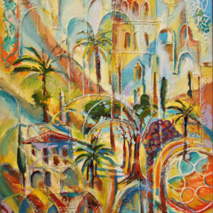 Art, City of towers, Original Painting