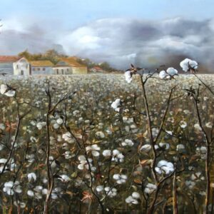 """Cotton Field"" by Samson Gabriel, Original Painting"