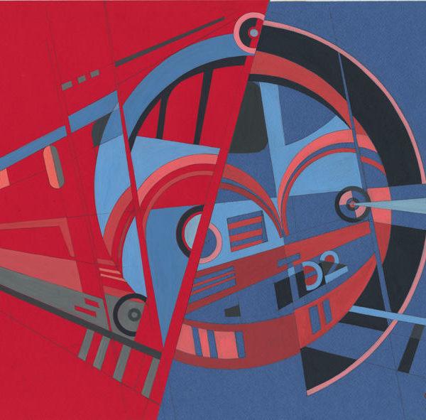 Diesel-electric locomotive TE2 - Era of Locomotives Series by Alex Goncharenko