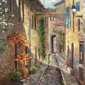 """Dinan"" by Samson Gabriel, Original Oil Painting"