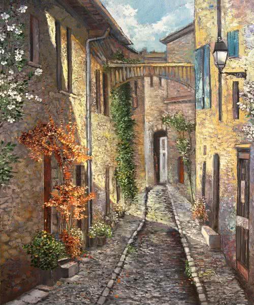 """Dinan"" by Samson Gabriel, Original Oil Painting"