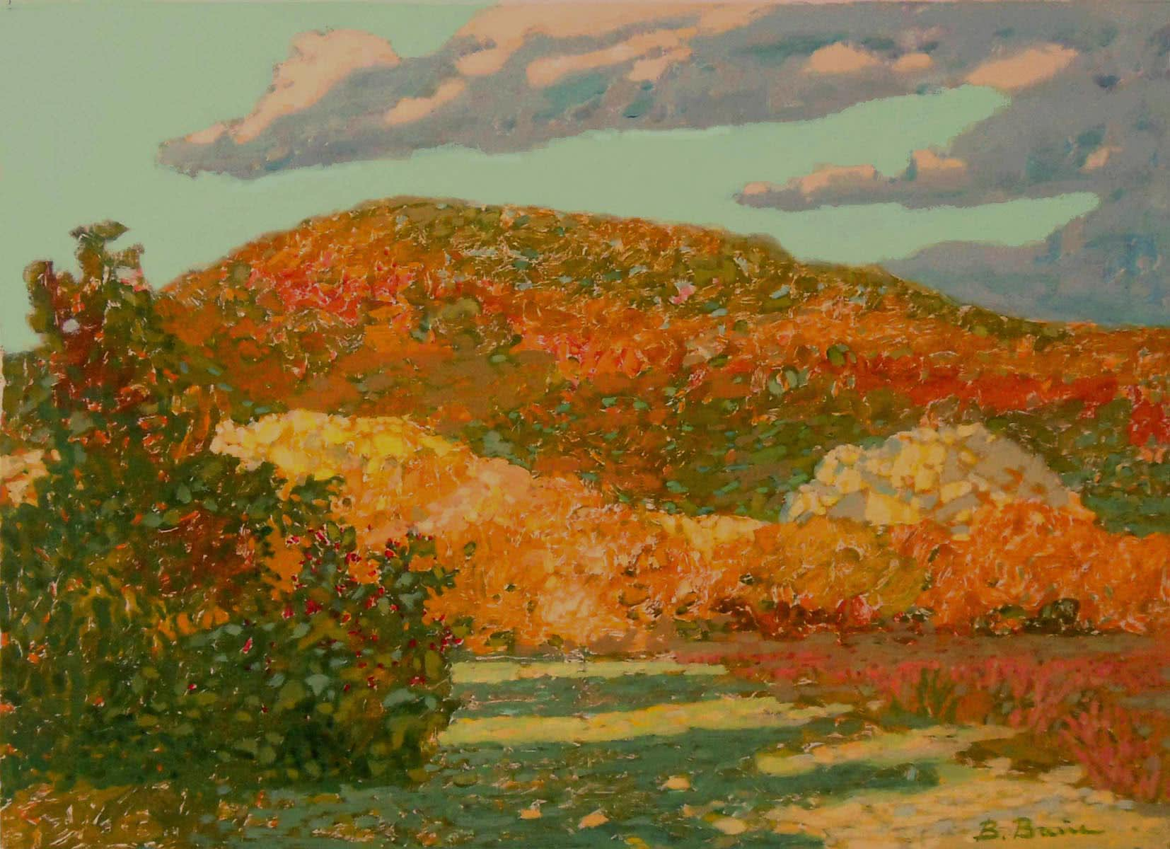 Fall in Shapsugs painting by Viktor Weyss