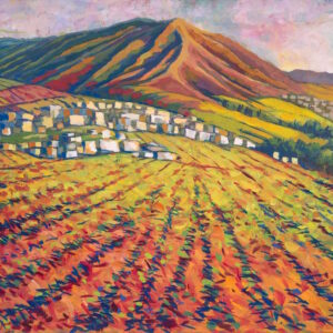 """Field in the Mountains"" Original Painting"