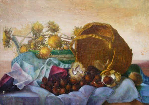 """Figs Basket"" Original Painting"