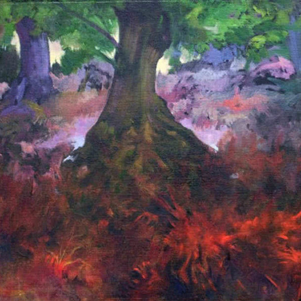 Forest at Sunset by Ercole Ercoli Original Painting