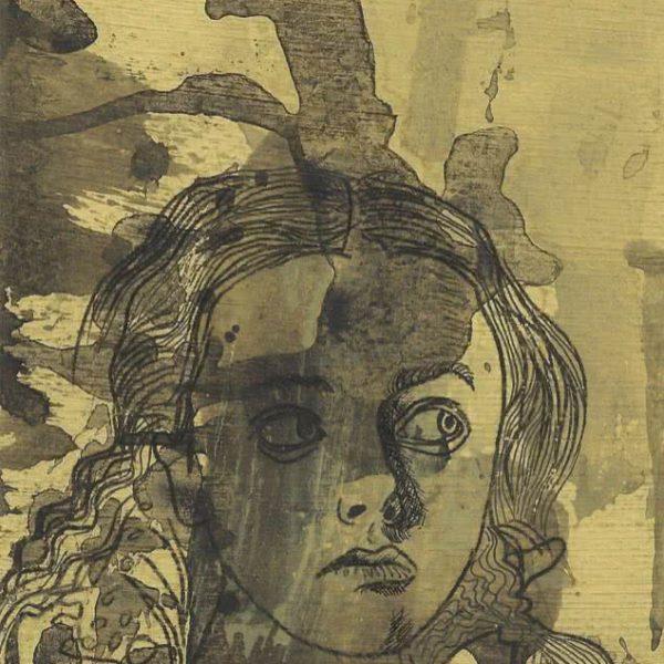 """Full of Curiosity and Sights"" Original Graphic Arts Tempera"