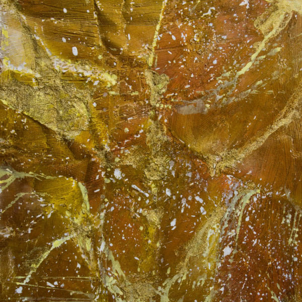 Golden Ice - Composition #5 - Abstract Painting by Ercole Ercoli