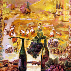 Grape Harvest Oil Painting