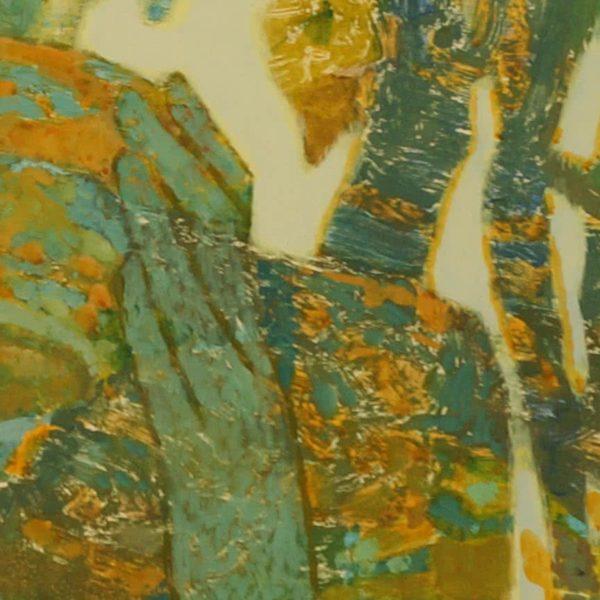 """Grape Juice"" Monotipia on Canvas by Viktor Weyss"
