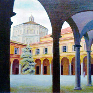 In the courtyard of the Milan Musical Conservatory - by Sergey Dronov (SOLD)