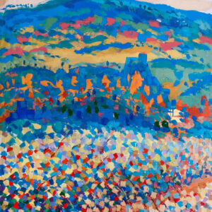 """Jerusalem View of the Mountain"" Original Painting"