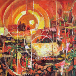 Art, Jerusalem At Night, Original Painting
