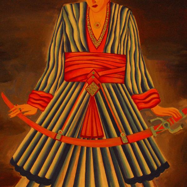 Khalif Stark Theater Play Costume Painting, by Iosef Yusupov