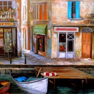 """La Bistro DE la care"" by Samson Gabriel, Original Painting"