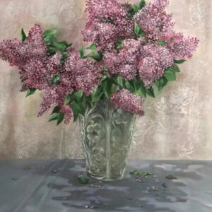 """Lilac"" Original Oil Painting"