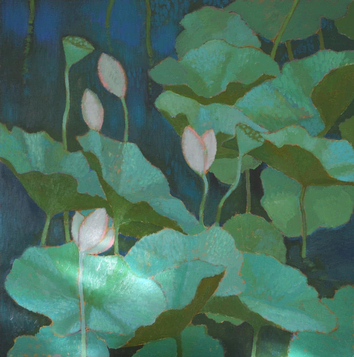 Lotus Flowers Original Painting Artistny