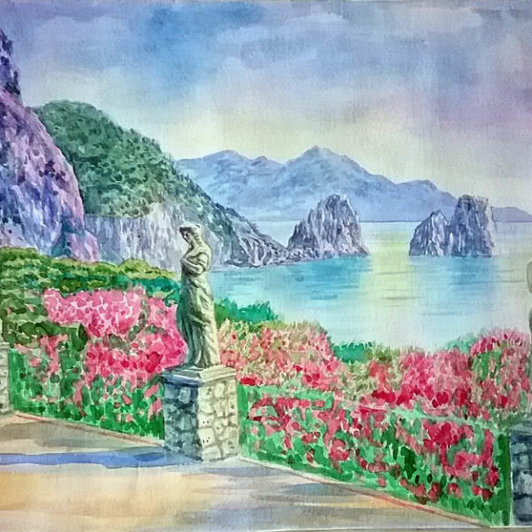 """May morning in Capri"" Painting by Sergey Dronov"