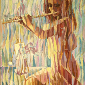 Art, Melody for flute, Original Painting
