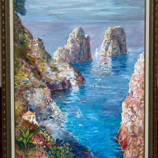 """""""Noon at Capri"""" painting by Sergey Dronov (SOLD)"""