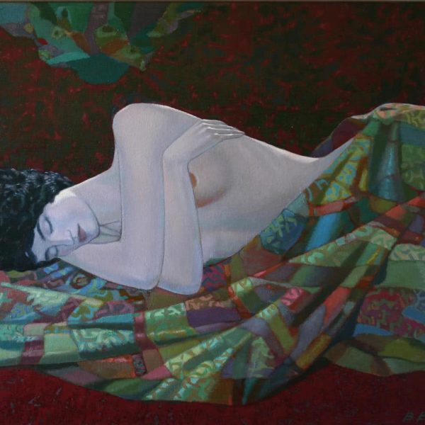 """Odalisque"" Original Oil on Canvas by Viktor Weyss"