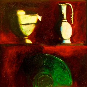 """Pitchers V"" Original Painting Oil on Canvas"