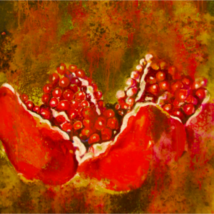 """Pomegranates IV"" Original Painting Oil on Canvas"