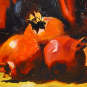"""Pomegranats"" Original Oil Painting on Canvas"