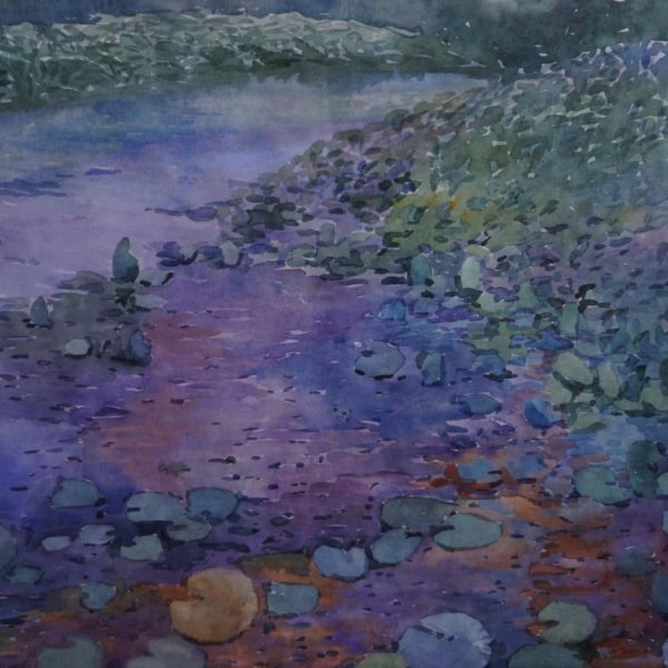 """Pond"" Original Painting by Julia Weyss"