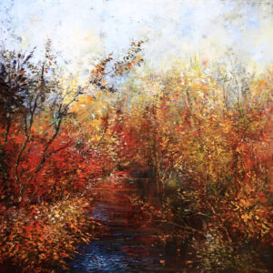 """Pond II"" by Samson Gabriel, Original Oil Painting"