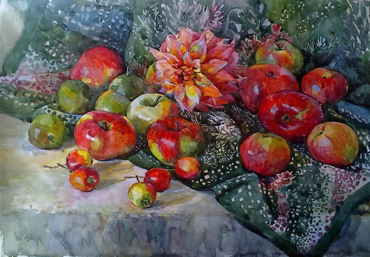 Still life with apples by Julia Weyss