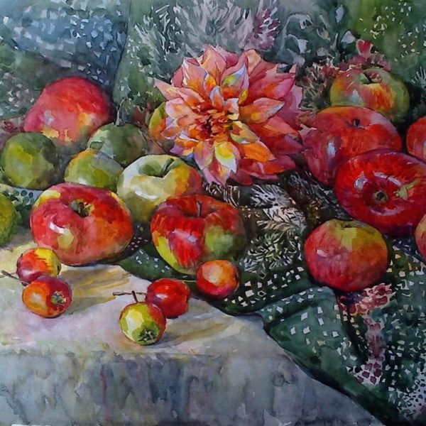 """Still life with Apples"" by Julia Weyss, Original Painting"