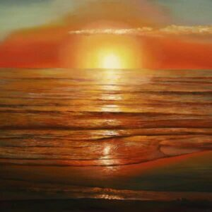 """Sunset"" Original Oil Painting"