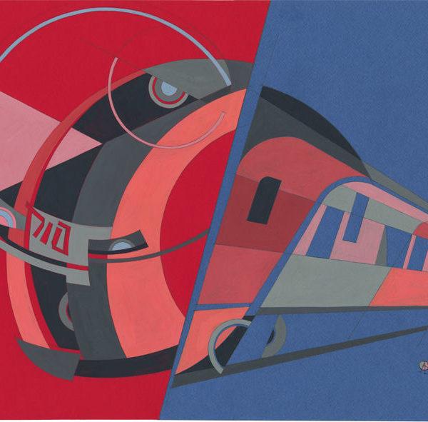 Swallow, high speed electric train ES - Era of Locomotives Series by Alex Goncharenko