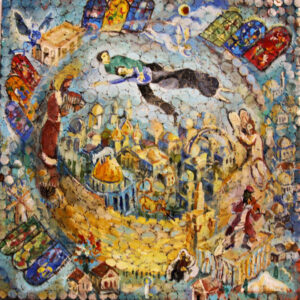 The Jerusalem Chagall Painting by Alexander Avraham Levi