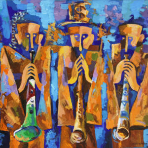 Three trumpeters of the World, Original Painting