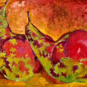 """Two Pears"" Original Oil on Canvas"