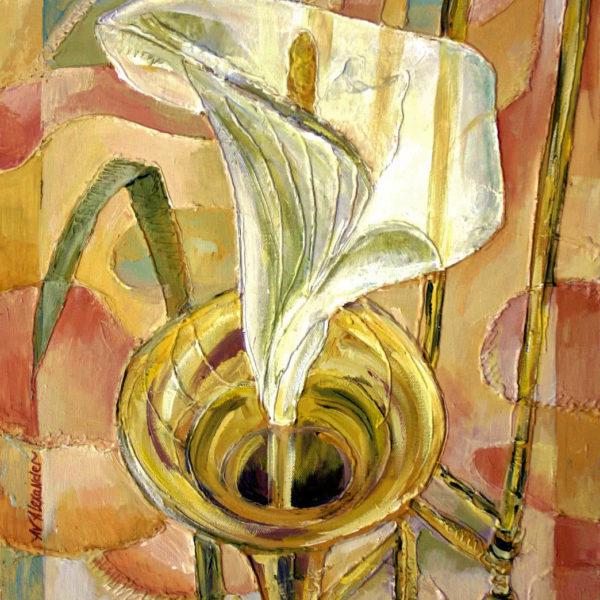 Voice of the trombone, Original Painting