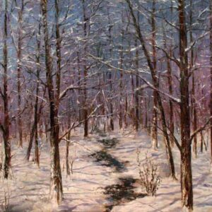 """Winter"" by Samson Gabriel, Original Oil Painting"