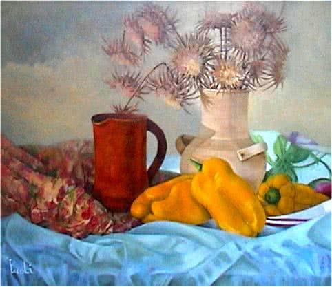 """Yellow Pepper Basket"" Original Painting"