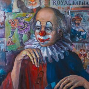 """The Clown"" by Samson Gabriel, Original Oil on Canvas Painting"