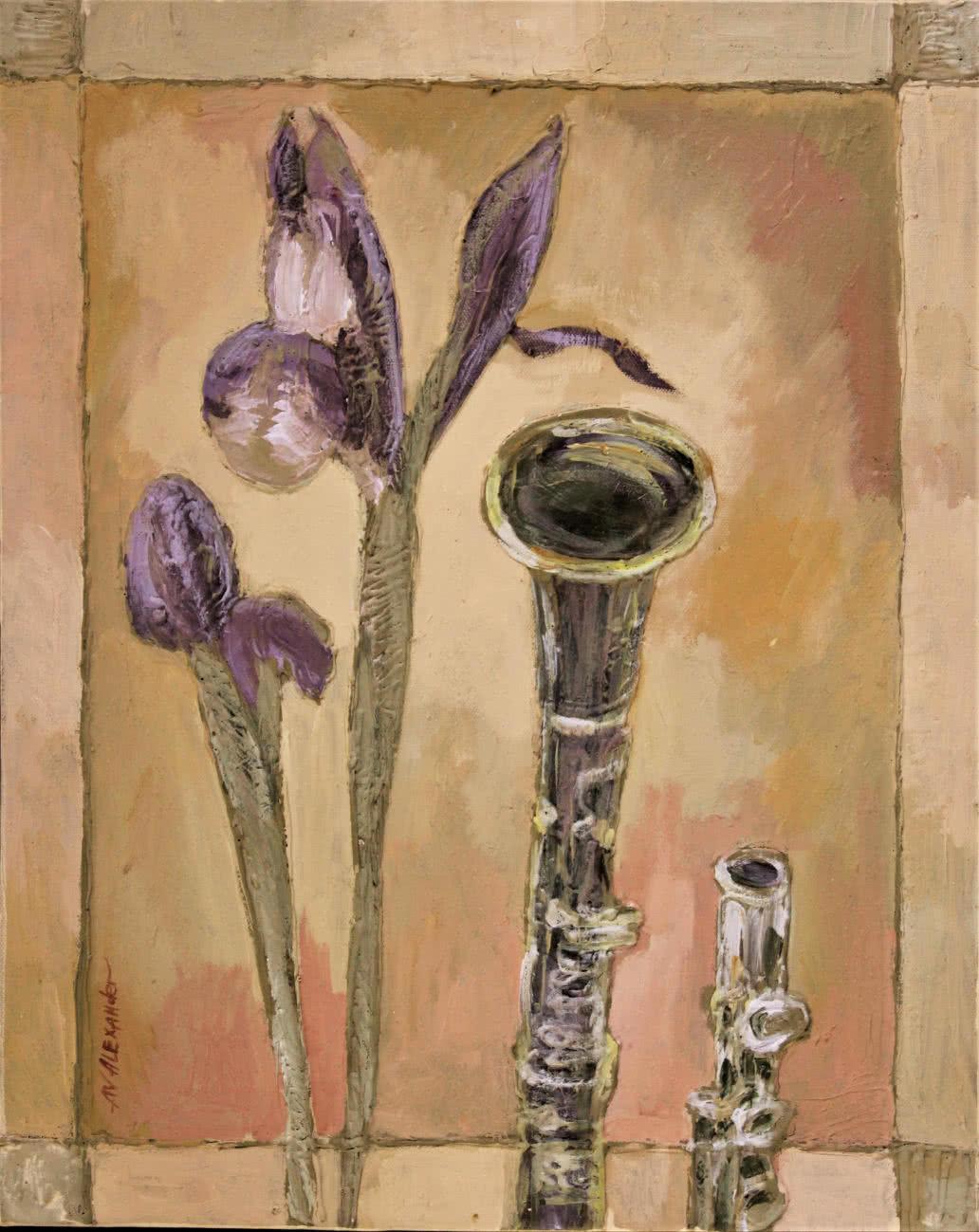 Painting of flowers irises original artwork artistny painting of flowers irises original artwork izmirmasajfo