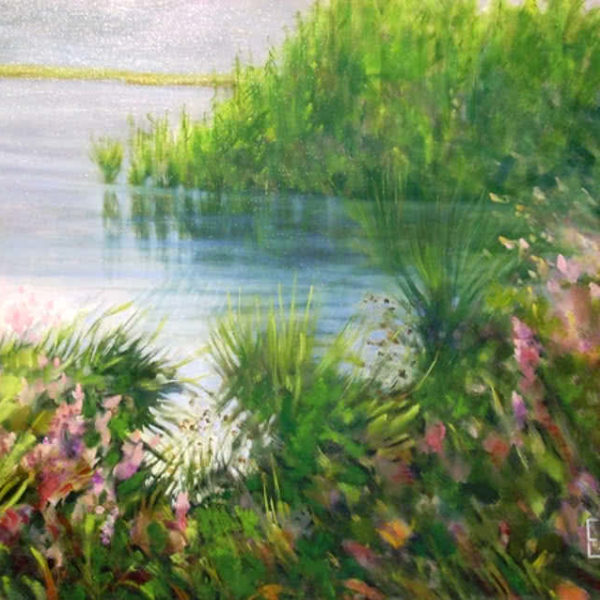 Pond Garden by Ercole Ercoli Original Painting